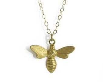 Bee Necklace // Bee Jewelry // Boyfriend Girlfriend