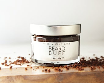 Beard Scrub | Mens Grooming | Father's Day Gift, Gifts for Dad | 100% natural and vegan scrub for men - TRAVEL SIZE