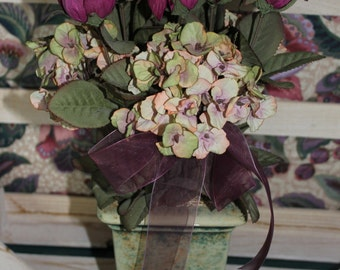 Dried Roses Floral Display