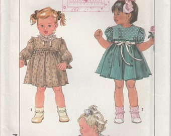 Toddler Dress Pattern Size 2 Uncut Simplicity 8767
