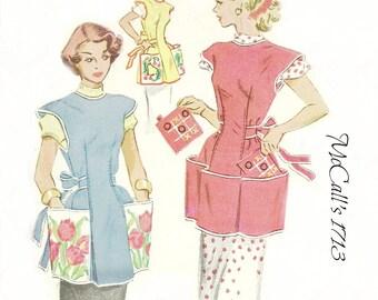 McCall's 1713 Misses' Cobbler Apron Pattern 1960's