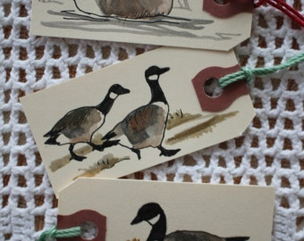 Canada Goose Gift Tags - Set of Six Hand-Painted Tags
