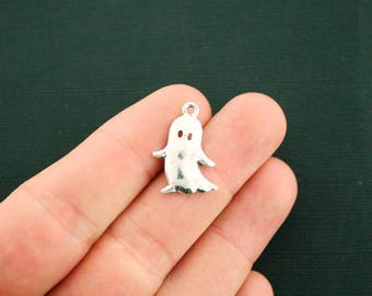 8 Ghost Charms Antique Silver Tone - SC6909 NEW4