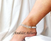 Anklet Rhinestone Ankle Bracelet Bridal Shower Gift BLING Anklet Choker Necklace Anklets for Women