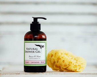 Natural Shower Gel - Honey Lavender Rose