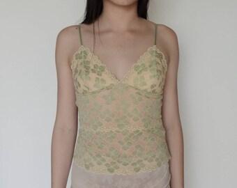 90's Floral Lace Cami
