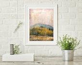 "Colorado Print, Mixed Media Print, Mountain Print, Landscape Print, Colorado Gift, Mountain Art, 8""x10"" or 11""x14"" Print, ""Crested Butte II"""
