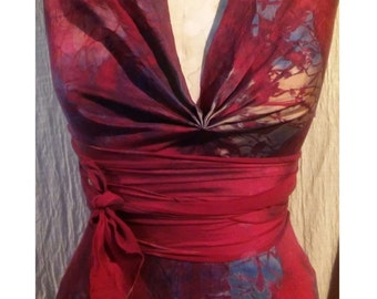 Red silk halter with front drape Marilyn style wedding dress mother of the bride colored wedding dresses sexy plus size dresses