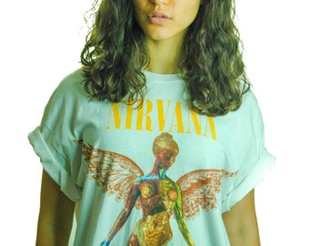Vintage NIRVANA Shirt 1990s IN UTERO 90s shirt 90s Tee Band Tee Concert shirt Hole The Melvins Butthole Surfers Jesus Lizard Punk Sub Pop