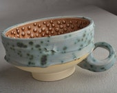 Dottie Shaving Bowl Made To Order Chawan Dottie Shaving Bowl With Handle by Symmetrical Pottery