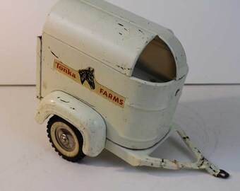 Vintage Tonka Trailer  - 1959 Tonka Farms   Metal Horse Trailer