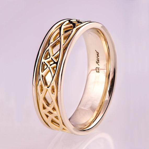like this item - Two Tone Wedding Rings