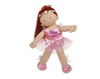 """Personalized 18"""" Eileen Big Sister Ballerina Doll - Red Head"""