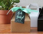 12 - Oh Baby Mini Gable Favor Boxes - baby shower favors, baby shower box, girl baby shower favors, boy baby shower favors | Oh Baby Tags