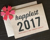 Set of 20 - Happiest 2017 Happy New Year Cards - New Years Cards