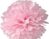 Light Pink Tissue Pom Pom 4, 6, or 8 inch Set of 2 /Weddings/Showers/Birthdays/Parties