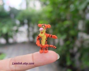dollhouse miniature dolls - crochet amigurumi tiger
