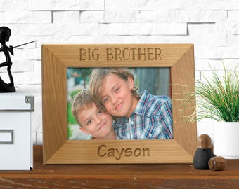 engraved frame big brother big sister siblings picture frame sisters frame brothers frame
