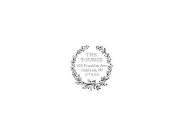 Housewarming Stationery Wedding Gift Personalized Custom Return Address Rubber Stamp Self Inking ...