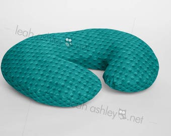 Boppy® Cover, Nursing Pillow Cover - Teal Minky Dot or Minky Smooth - Choose Your Minky Type - BC1