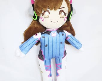 Overwatch D.Va Plush Plushie Dva Doll