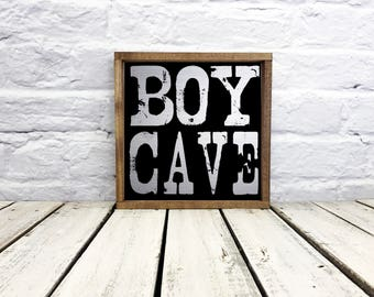 little man cave sign, boy cave sign, boys room decor, man cave, boys room, nursery decor, wall art, wood sign, metal sign