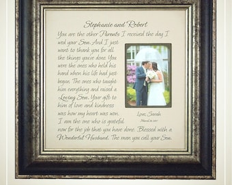 Parents Wedding Gifts, Parents Bride Groom, MOM DAD Sign, Father of The Groom, Mother of The Groom gift, photo frame, Today A Groom, 16 X 16