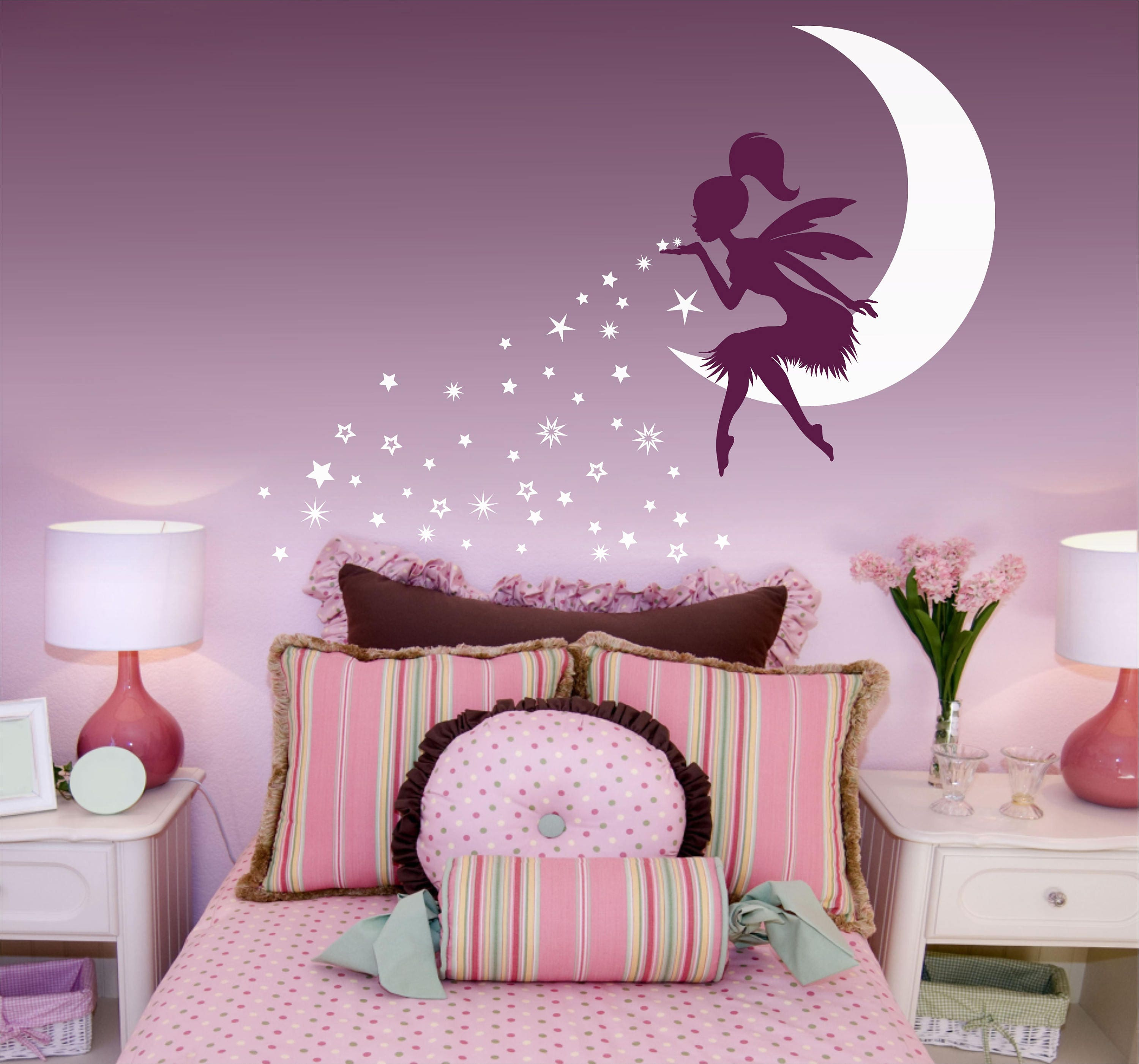 Fairy wall decal fairy blowing stars wall decal fairy zoom amipublicfo Images