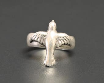 Dove Sterling Ring Holy Spirit Ring Size 7.25