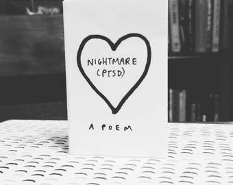 Nightmare (ptsd) Poem Mini Zine