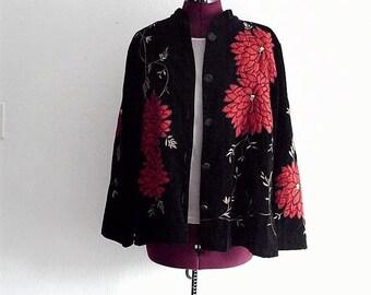 Sale Embellished Black Velvet Jacket