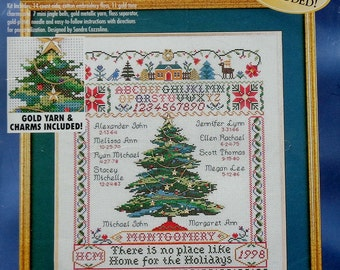 Bucilla HOLIDAY FAMILY TREE Counted Cross Stitch Kit By Sandra Cozzolino