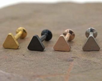 Tiny Triangle Tragus Stud Cartliage Earring Helix Piercing