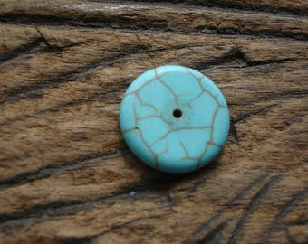 Moroccan   turquoise hand made small round bead