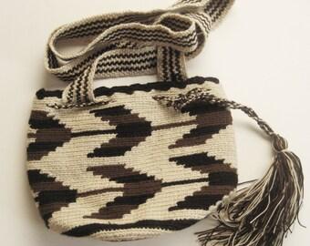 Vintage Crochet Bucket Bag / Ethnic Bag / Woven Bag / Bucket Bag