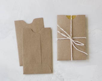 Brown Kraft Mini Sleeve Envelopes - 25 pc