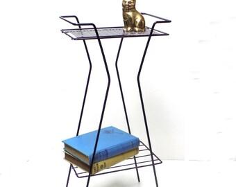 Mid Century Atomic Magazine Rack / Plant Stand