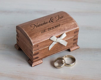 Engraved Ring Bearer Box Ring box Wedding Ring Box Personalized wedding Box Custom ring box / Pillow Wedding Ring Holder Еngagement Box