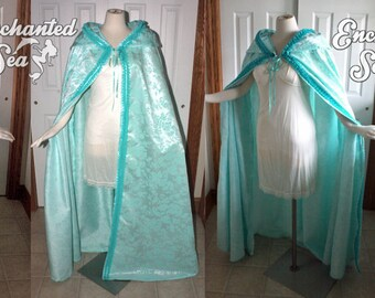 Ready to Ship!  Minty Pastel Aqua Cloak - Inspired by Christine Daae's Rooftop Cloak!