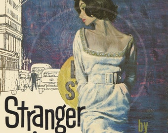 Stranger in Town - 10x15 Giclée Canvas Print of a Vintage Pulp Paperback Cover