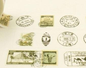 Express mail - Japanese Washi Masking Tape - 7.6 Yard