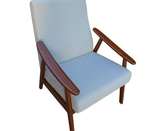 GRAY mid century Modern styled LOUNGE CHAIR