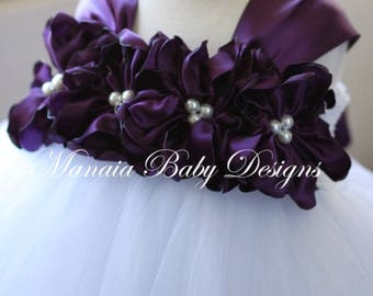 Eggplant Flower Girl Dress/ Eggplant Dress / Eggplant Tutu Dress/ Plum Flower Girl Dress / Plum Dress/ COLOR OF DRESS Can Be Changed!