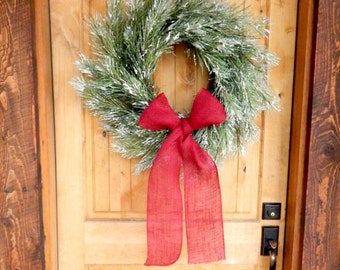 Winter Wreath-Valentines Day Wreath-Holiday Wreath-SNOWY PINE Wreath-Door Wreath-Scented Wreath-Primitive Christmas Wreath-Holiday Decor