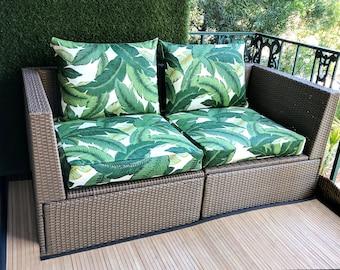 IKEA ARHOLMA Slip Cover, Ikea Cushion Covers, Custom Ikea Decor, Bespoke Arholma Covers, Tommy Bahama Swaying Palms