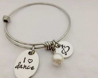 Dance Personalized Jewelry - Boutique Kid's -  Initial Jewelry for Little Girls -  Children's bracelet - Teen Jewelry - The Charmed Wife