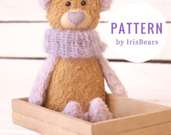 Naïve Bear Sewing PATTERN Stuffed Bear Softie