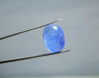 Natural Blue Dumortierite in Quartz Polished Crystal Mineral Specimen Cabochon 11.05 carats Loose Gemstone DanPickedMinerals