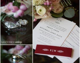 Wedding Invitation, Printable Invitation, Polka Dot Invitation, Wedding Invitation Suite, Monogram, DIY Wedding Invitation - #S8
