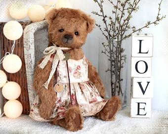 Big Artist Teddy Bear Jeannine 18 inch OOAK